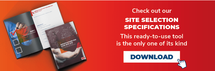 Download our free model site selection specifications